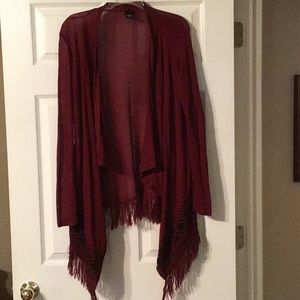 Southwest Burgundy Sweater